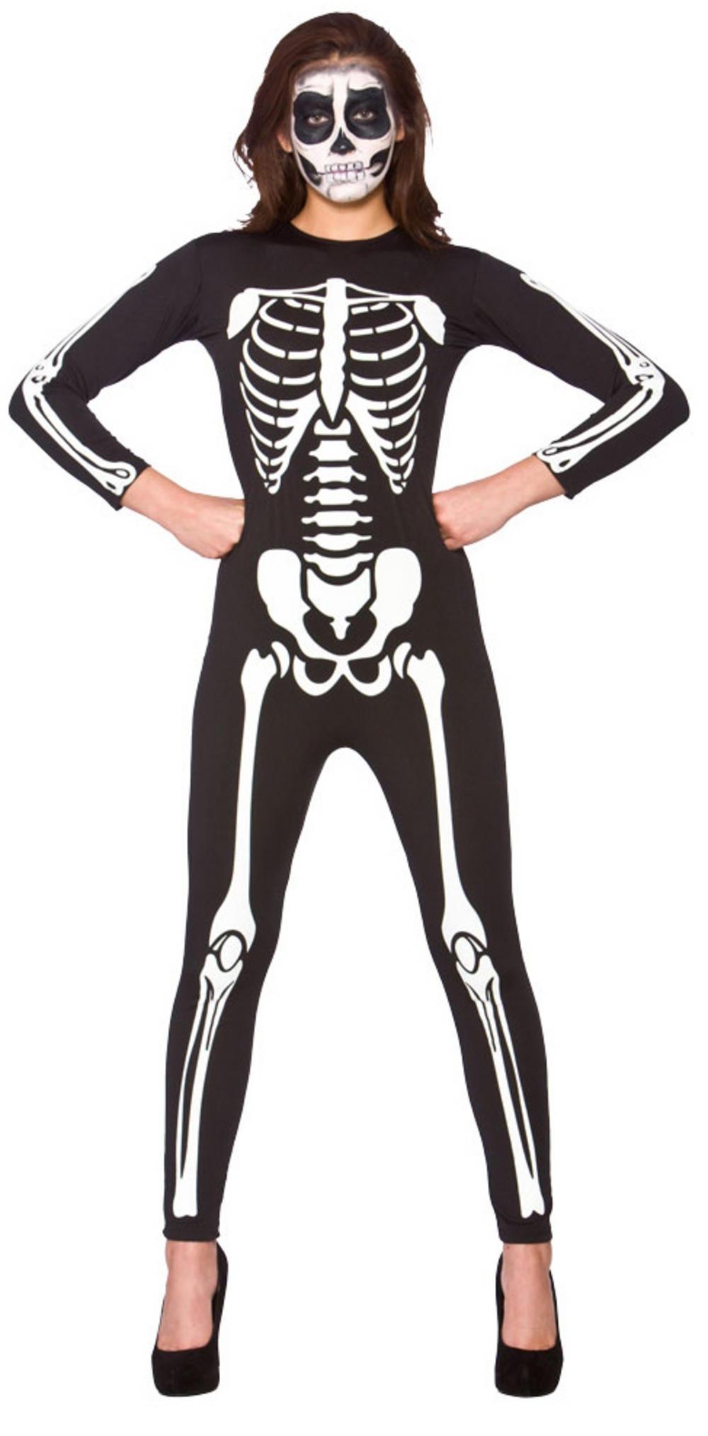 Skeleton Jumpsuit Adults Costume
