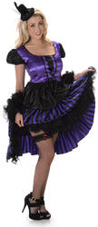 Purple and Black Saloon Girl Ladies Costume
