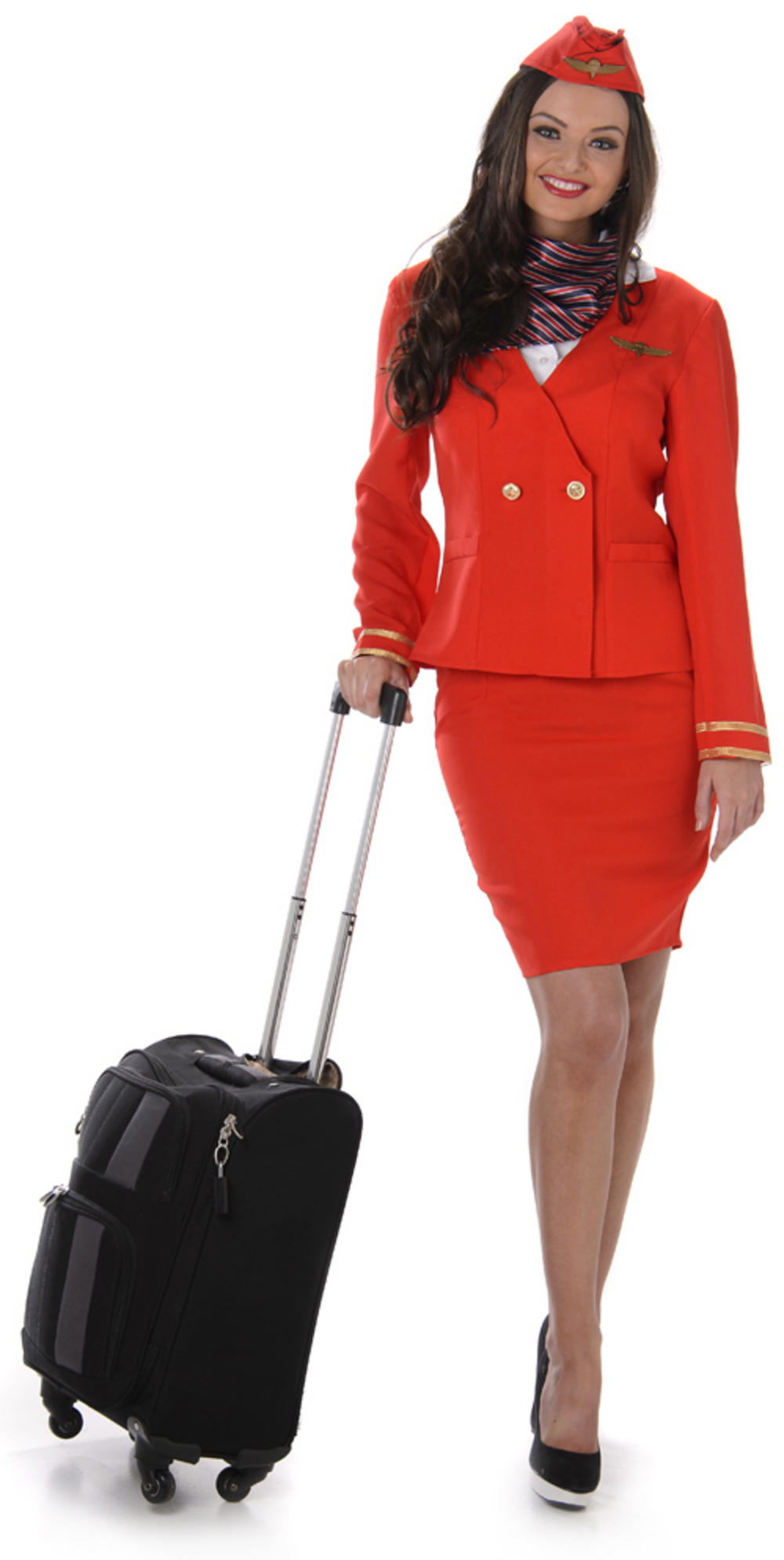 Red Flight Attendant Ladies Costume