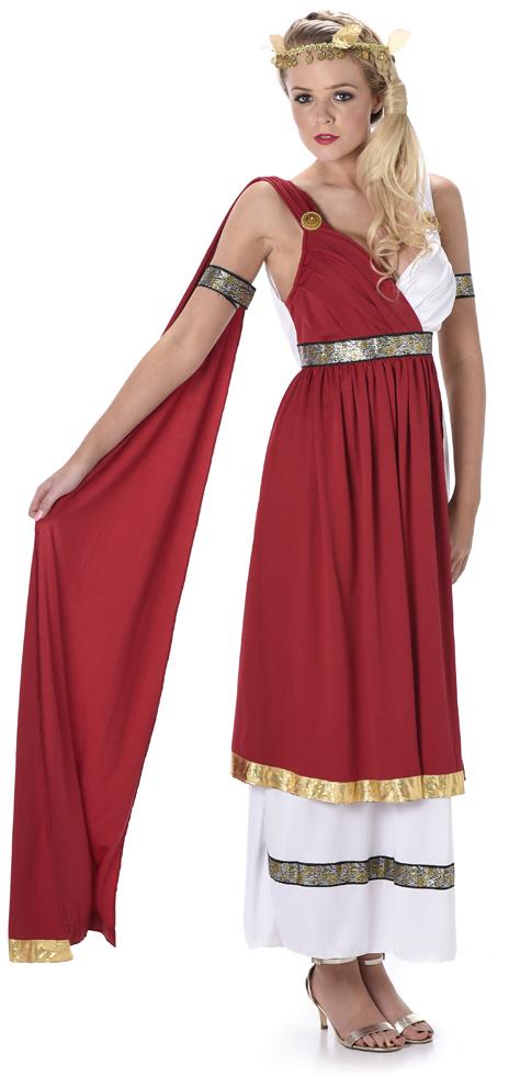 Roman Empress Ladies Fancy Dress Ancient Greek Grecian ...