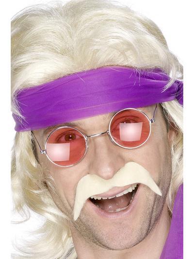 Mens 1970s Blonde Moustache