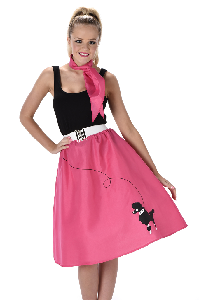 5cd0a1edee4f Sentinel Poodle Skirt Ladies Fancy Dress 50s 60s Rock and Roll Womens  Adults Costume New