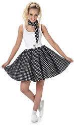 Black Polka Dot Skirt Ladies Costume