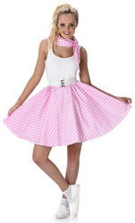 Baby Pink Polka Dot Skirt Ladies Costume