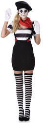 Mime Girl Ladies Costume