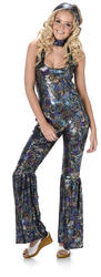 Disco Diva Jumpsuit Ladies Costume