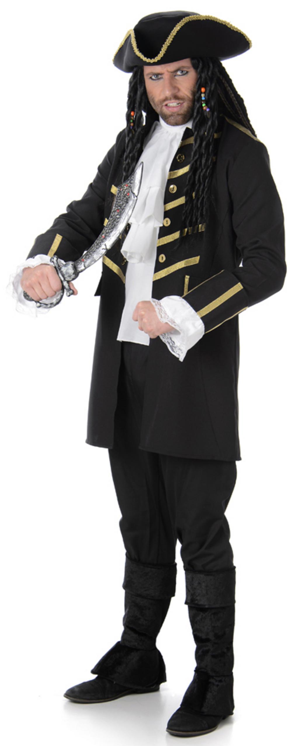Black Pirate Mens Costume