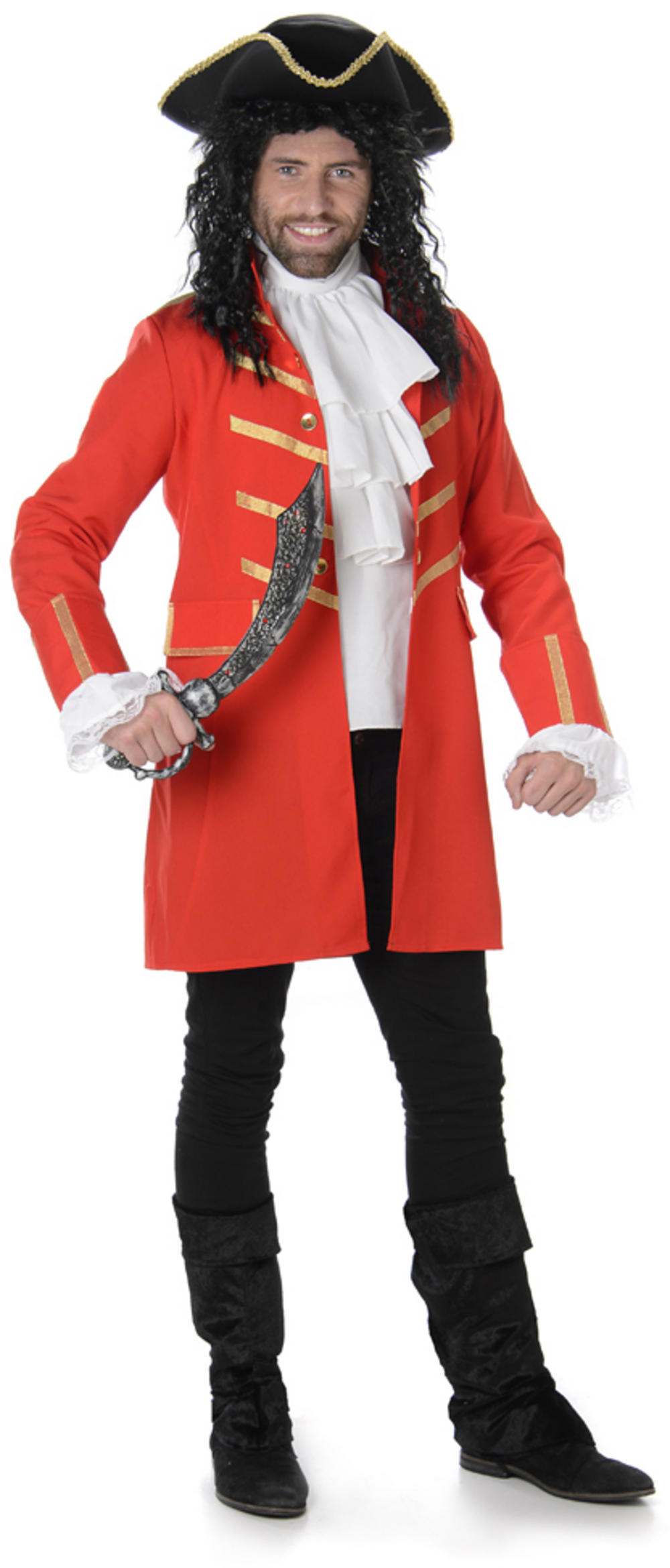 Red Pirate Mens Costume