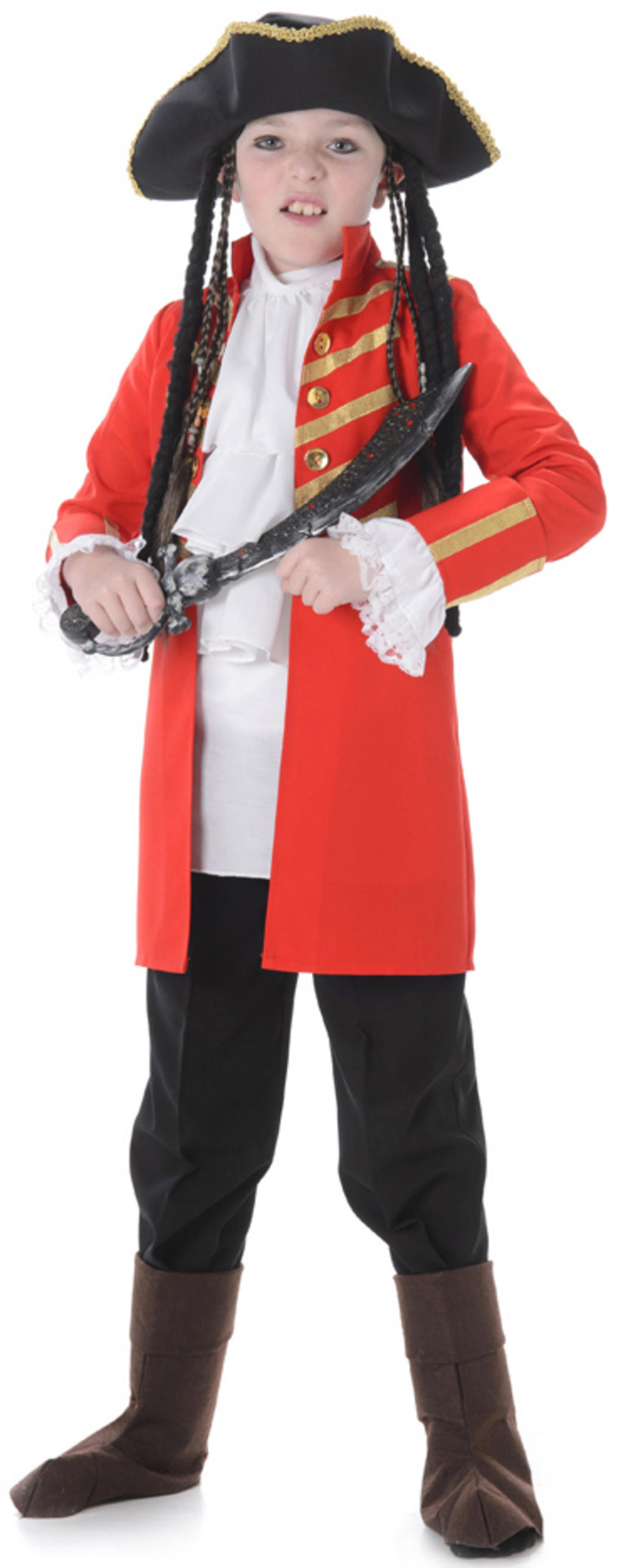 Red Pirate Boys Costume