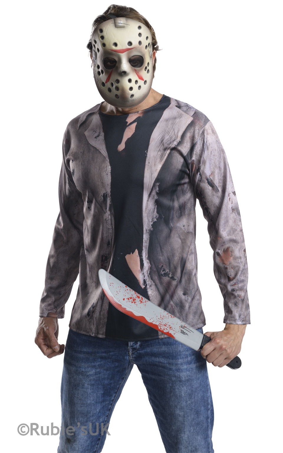 Halloween Costume Jason Friday 13th.Details About Jason Voorhees Mens Halloween Fancy Dress Horror Friday 13th Adults Costume Kit