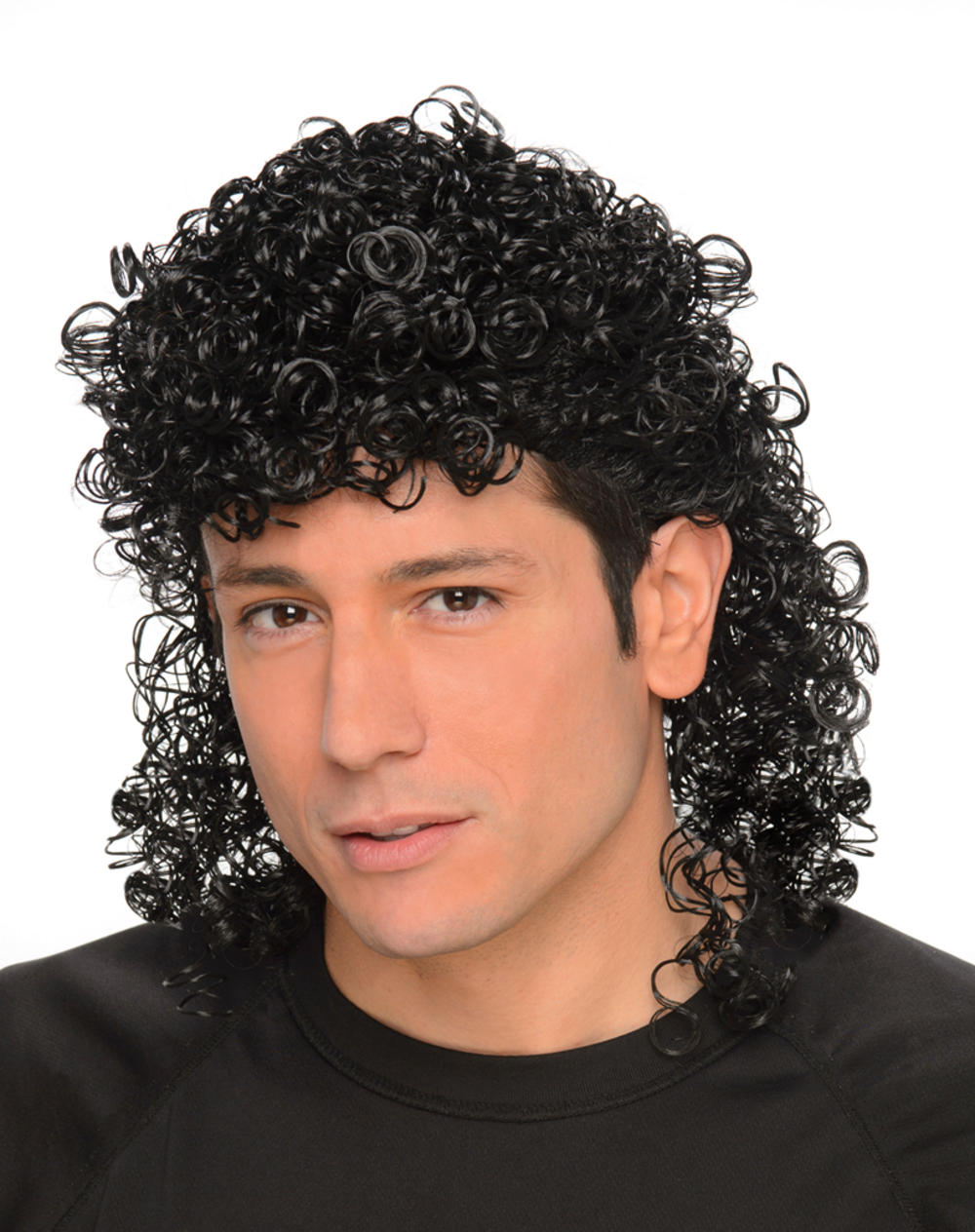 black curly mullet mens wig mens fancy dress wigs