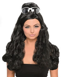 Black Curly Penny Ladies Wig
