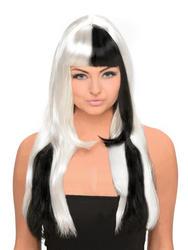 Black and White Monochrome Ladies Wig