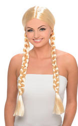 Blonde Plait Ladies Wig