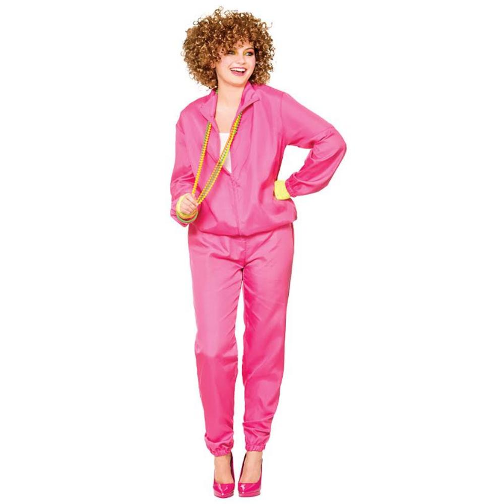 Ladies Pink 1980's Shell Suit