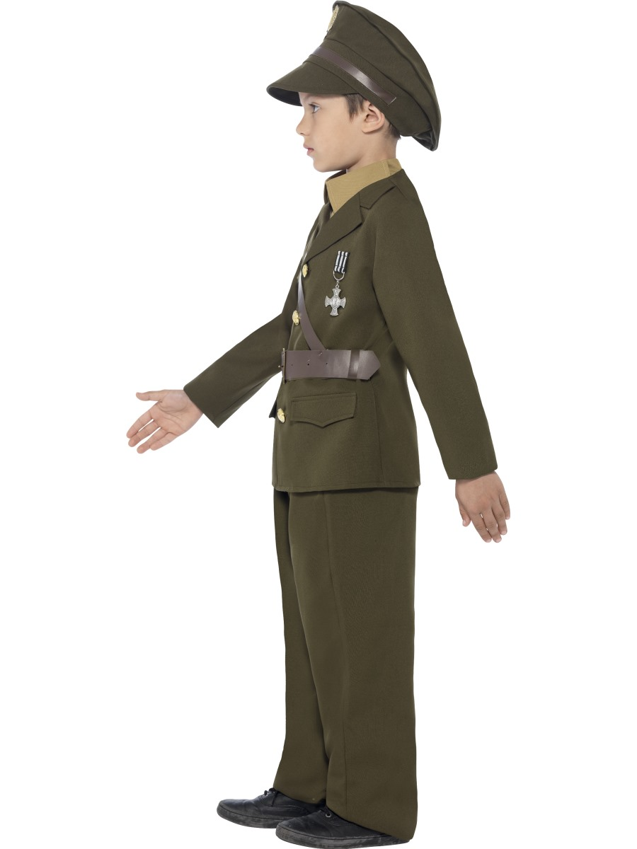 Sentinel Army Officer Boys Fancy Dress Up Military Uniform Soldier Kids 30s 1940s Costume  sc 1 st  eBay & Army Officer Boys Fancy Dress Up Military Uniform Soldier Kids 30s ...