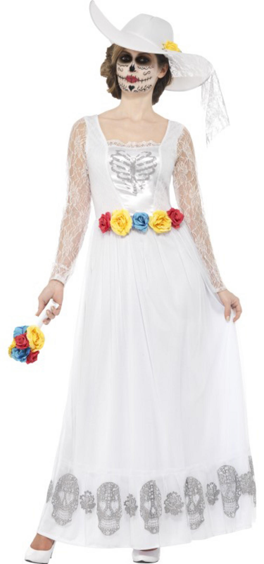 Day of the Dead Skeleton Bride Ladies Fancy Dress