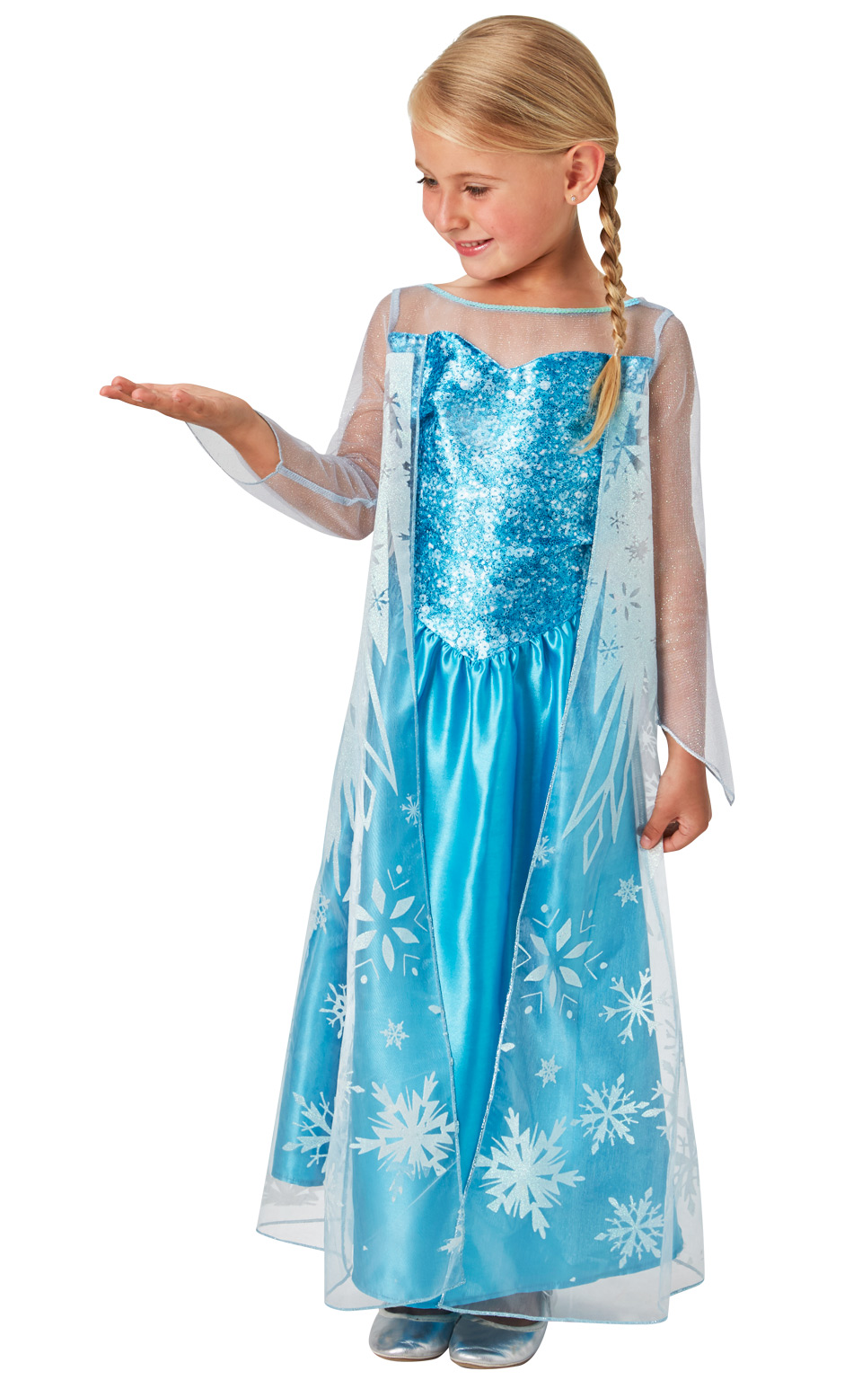 3af3def70848ce Sentinel Elsa Girls Fancy Dress Kids Ice Queen Disney Princess Childs Costume  Outfit New