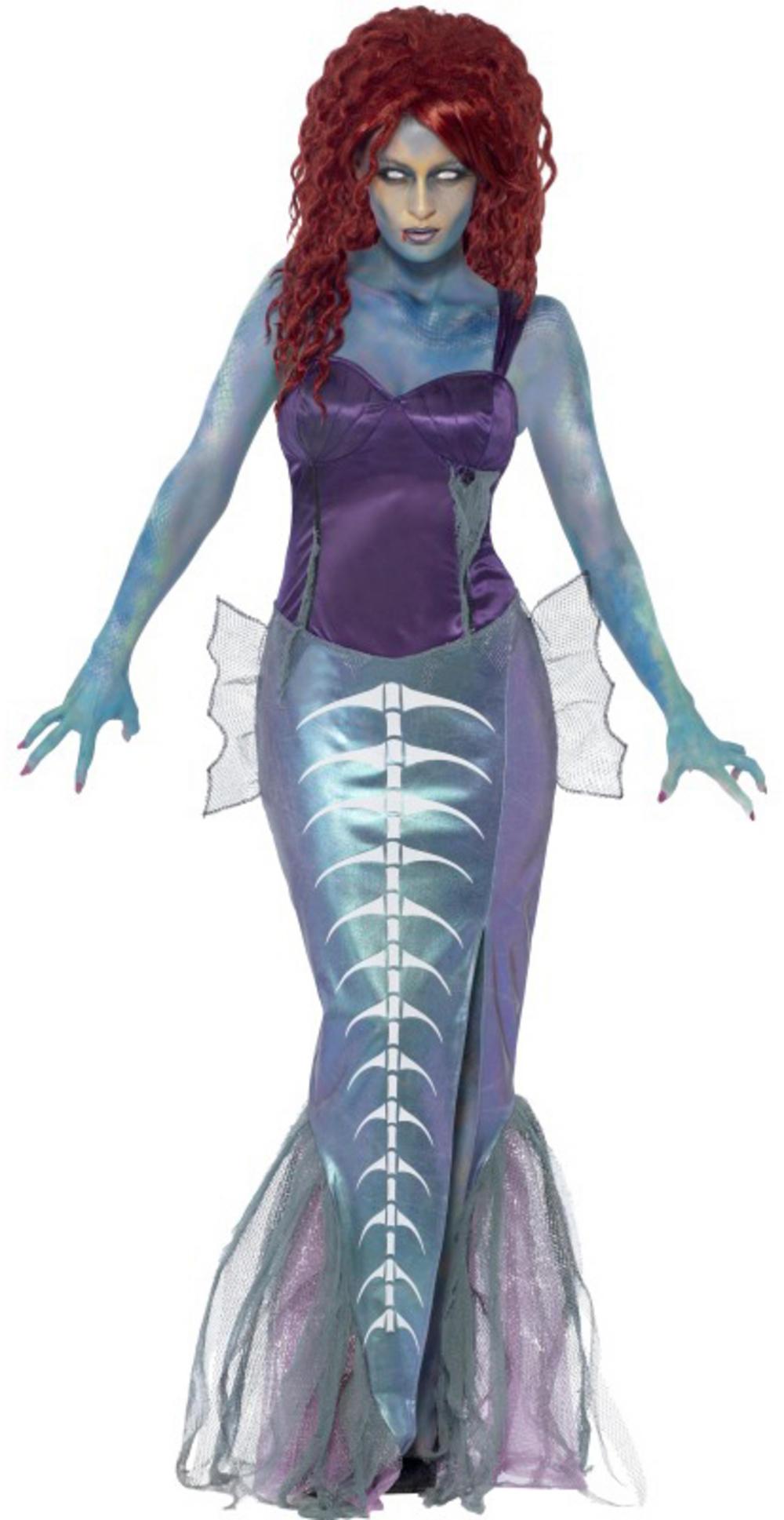 Zombie Mermaid Ladies Costume