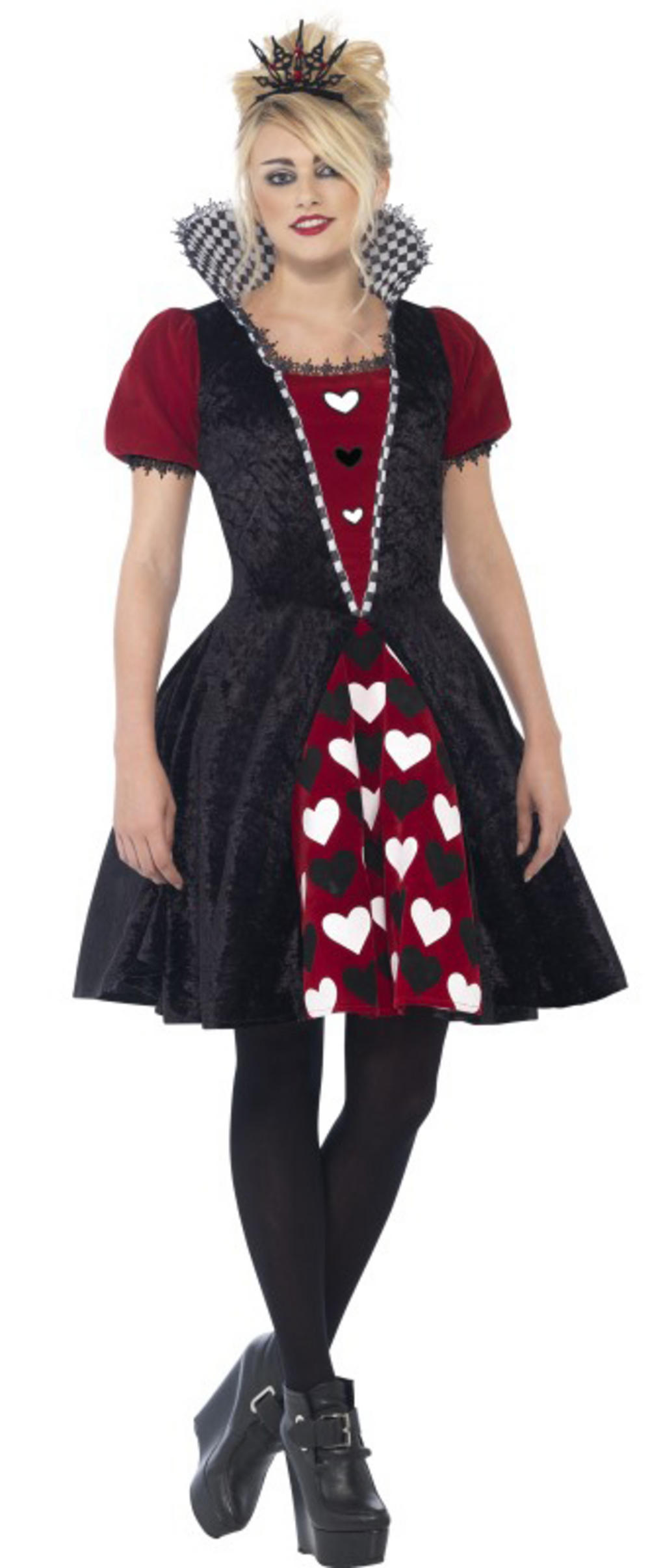 Deluxe Dark Red Queen Ladies Costume