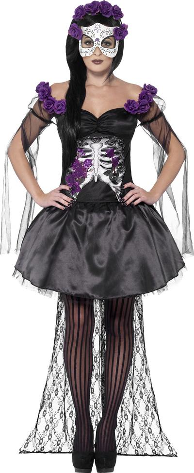 Day of the Dead Senorita Ladies Fancy Dress Costume