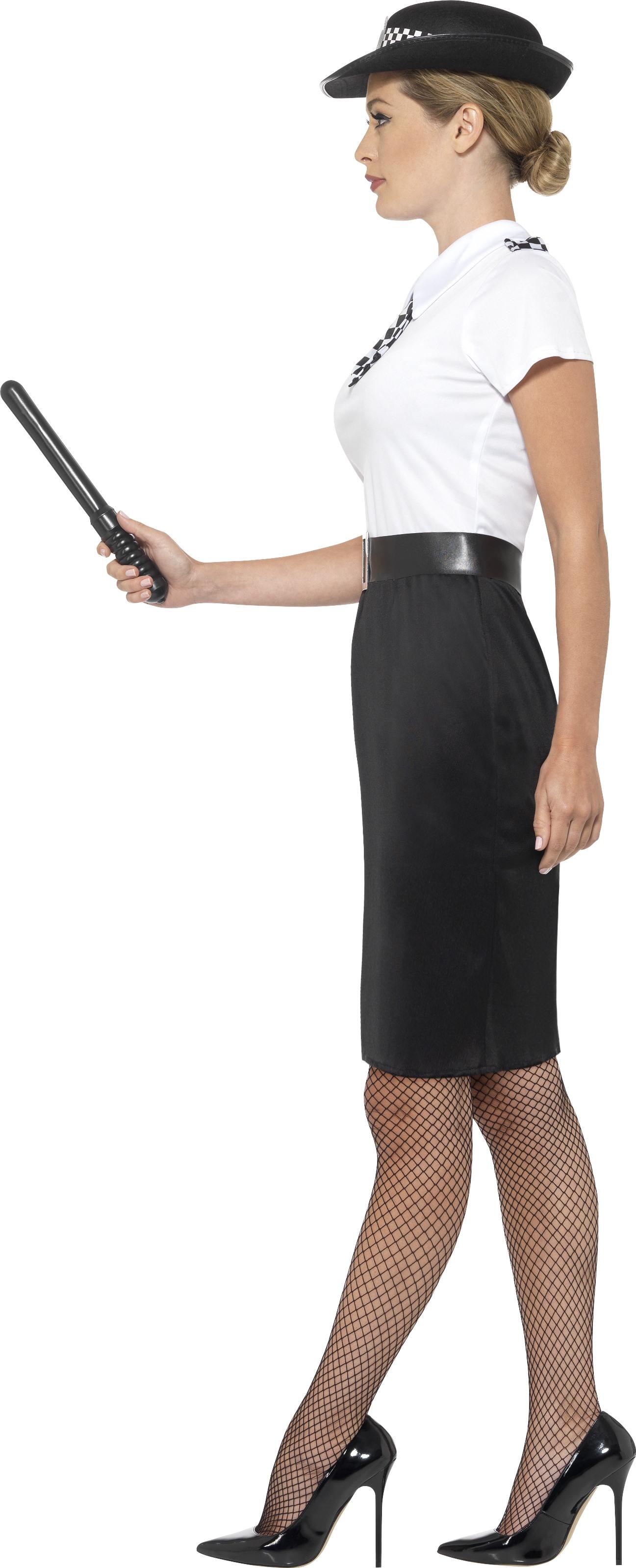 British Police Lady Fancy Dress Cop Ladies Adult Constable