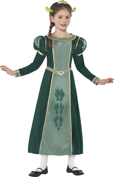 Princess Fiona Girls Shrek Costume