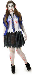 Zombie School Girl Ladies Costume