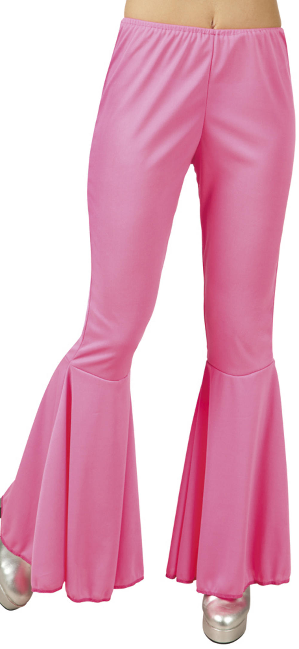 Pink Flared Ladies Trousers