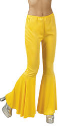 Yellow Flared Ladies Trousers
