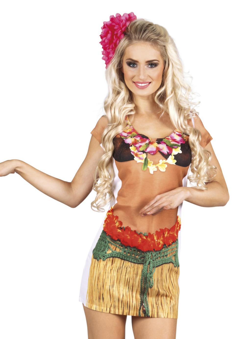 Photorealistic Hawaiian Girl Ladies Shirt