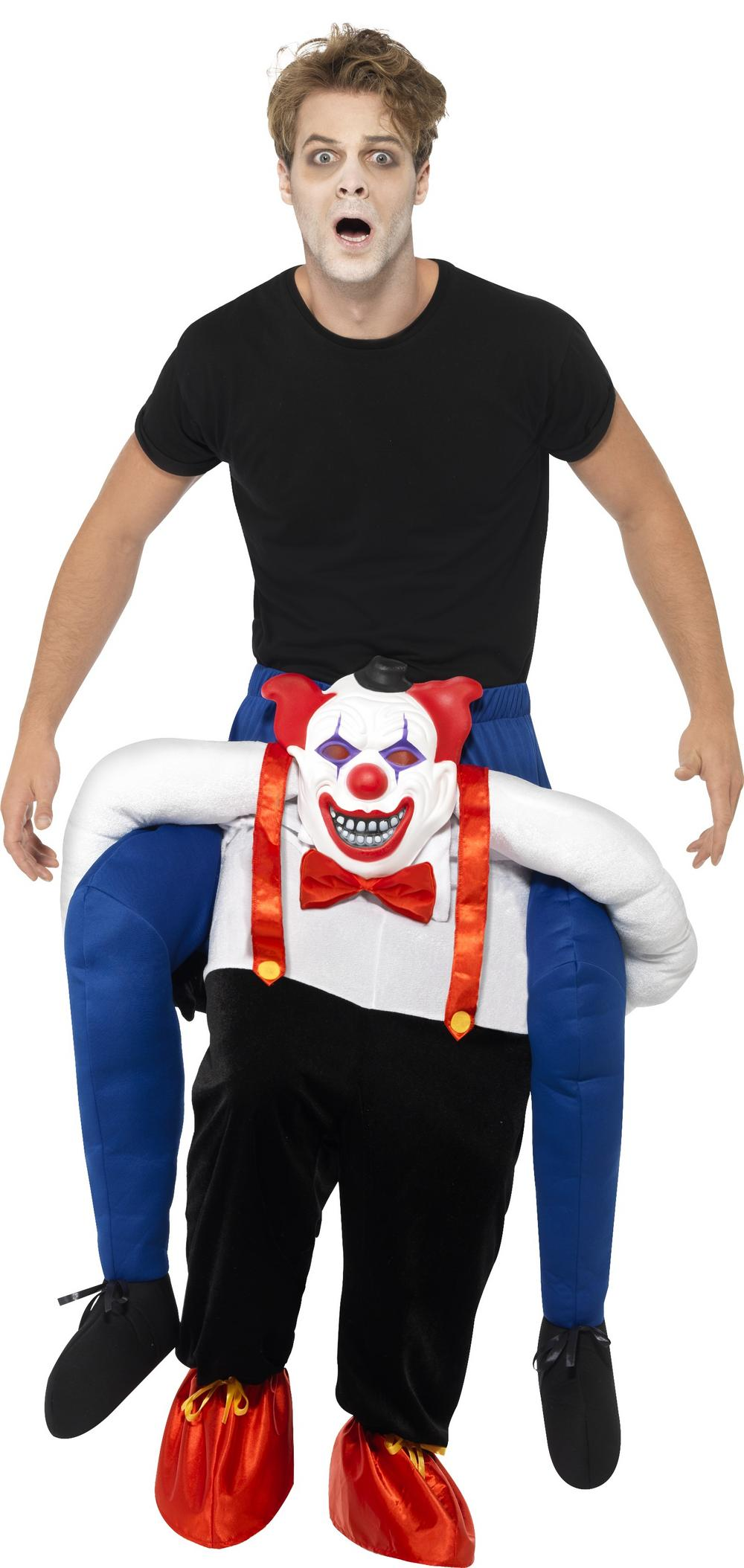 Sinister Clown Piggy Back Adults Costume