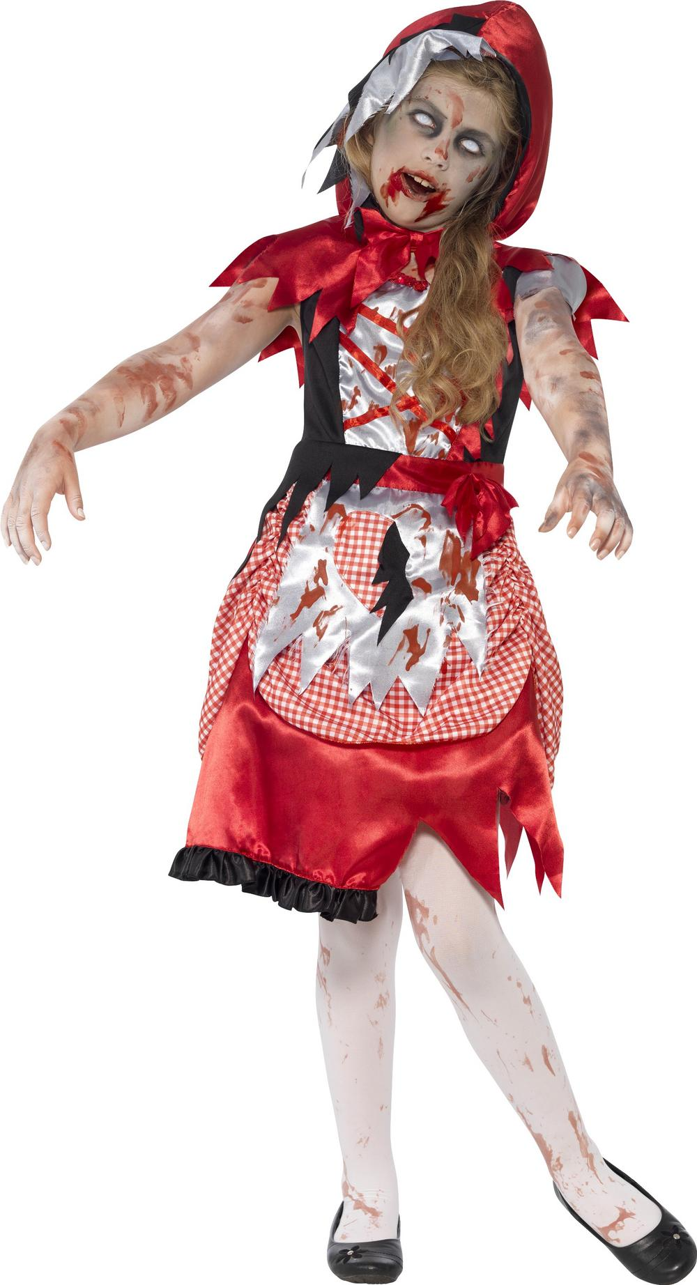 Zombie Miss Hood Girls Costume