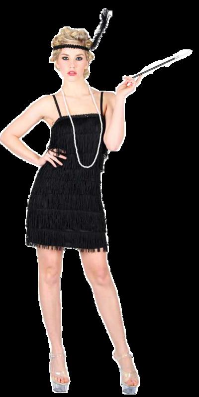 Black Showtime Flapper Costume