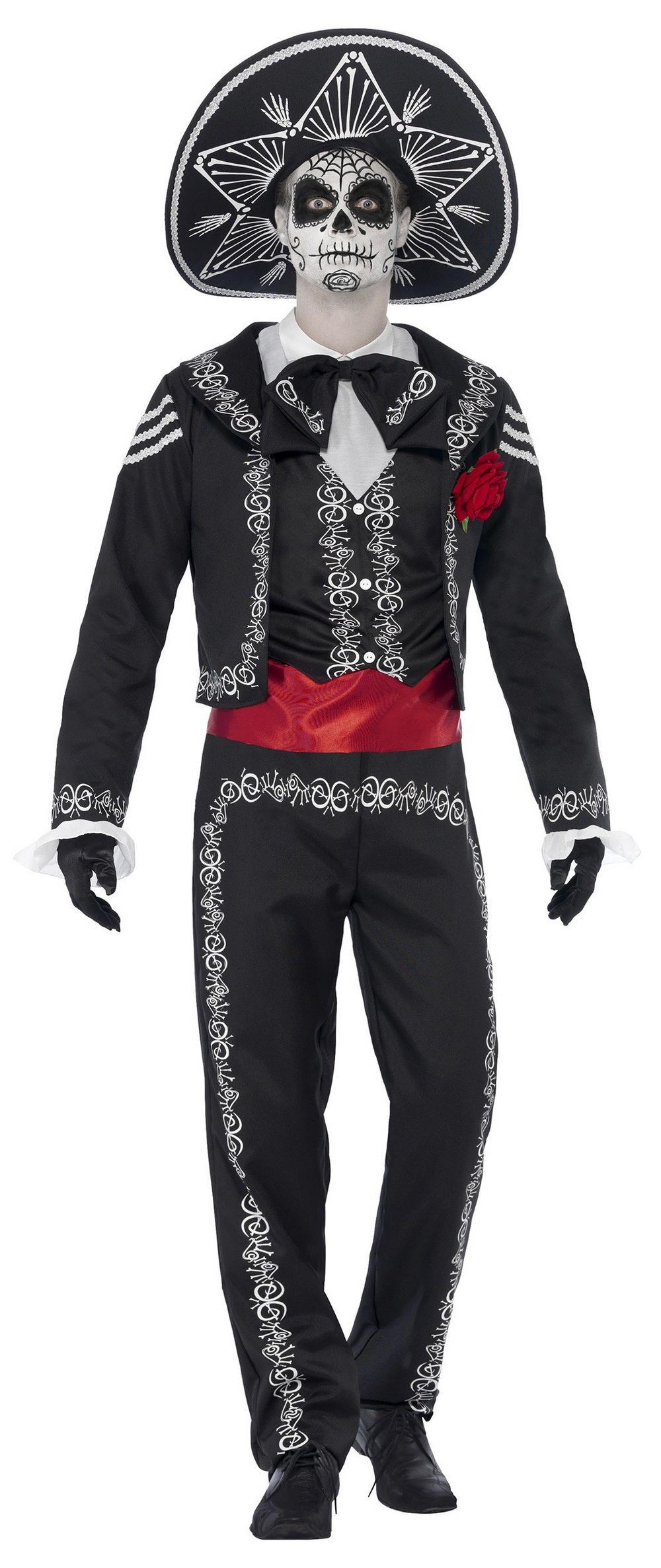 Day of the Dead Senor Bones Mens Costume