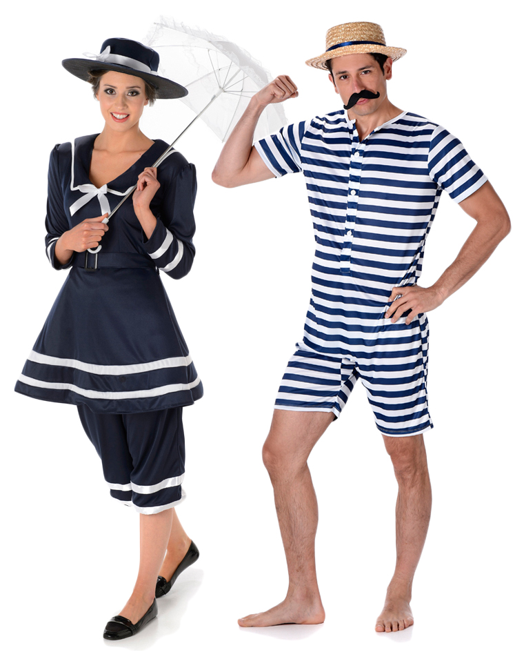 75351ed85f Sentinel Bathing Suit Adults Fancy Dress 20s 1920s Victorian Swimming Beach  Costumes New
