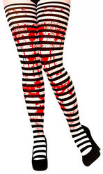 Candystripe Blood Tights