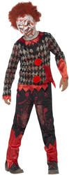 Deluxe Zombie Clown Boys Costume