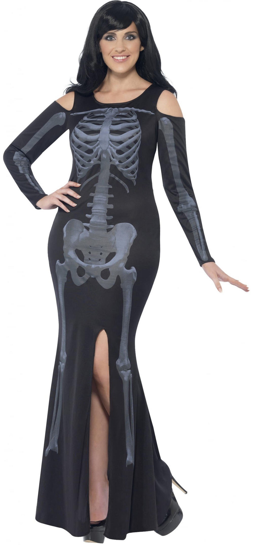 Curves Skeleton Ladies Costume