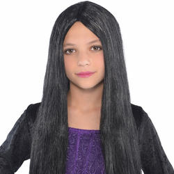 Girls Black Witch Wig