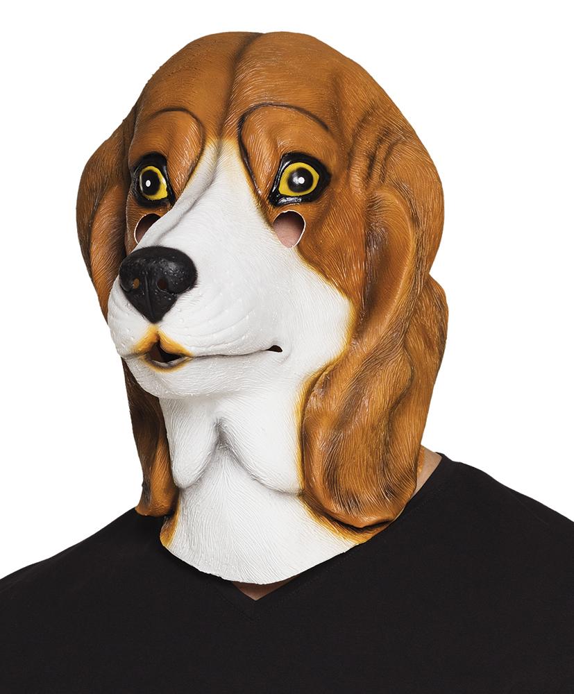 Beagle Dog Latex Mask Fancy Dress Masks Mega Fancy Dress