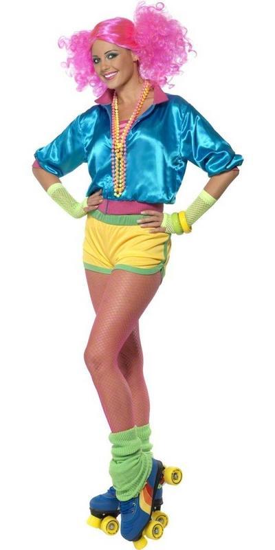 80s Neon Skater Girl Costume