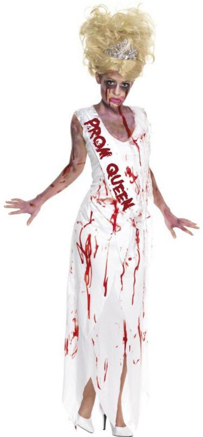 High School Horror Zombie Prom Queen Costume