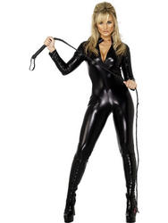 Fever Miss Whiplash Black Catsuit