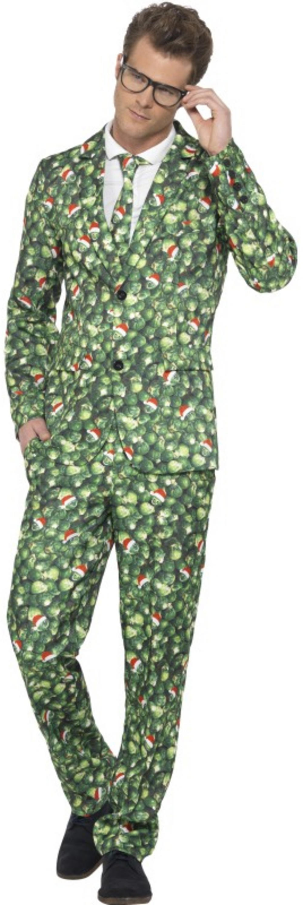 Brussle Sprout Suit Mens Costume