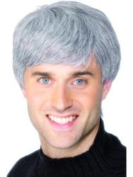 Grey Modern Haircut Wig