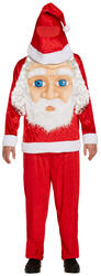 Santa with Jumbo Face Mens Costume