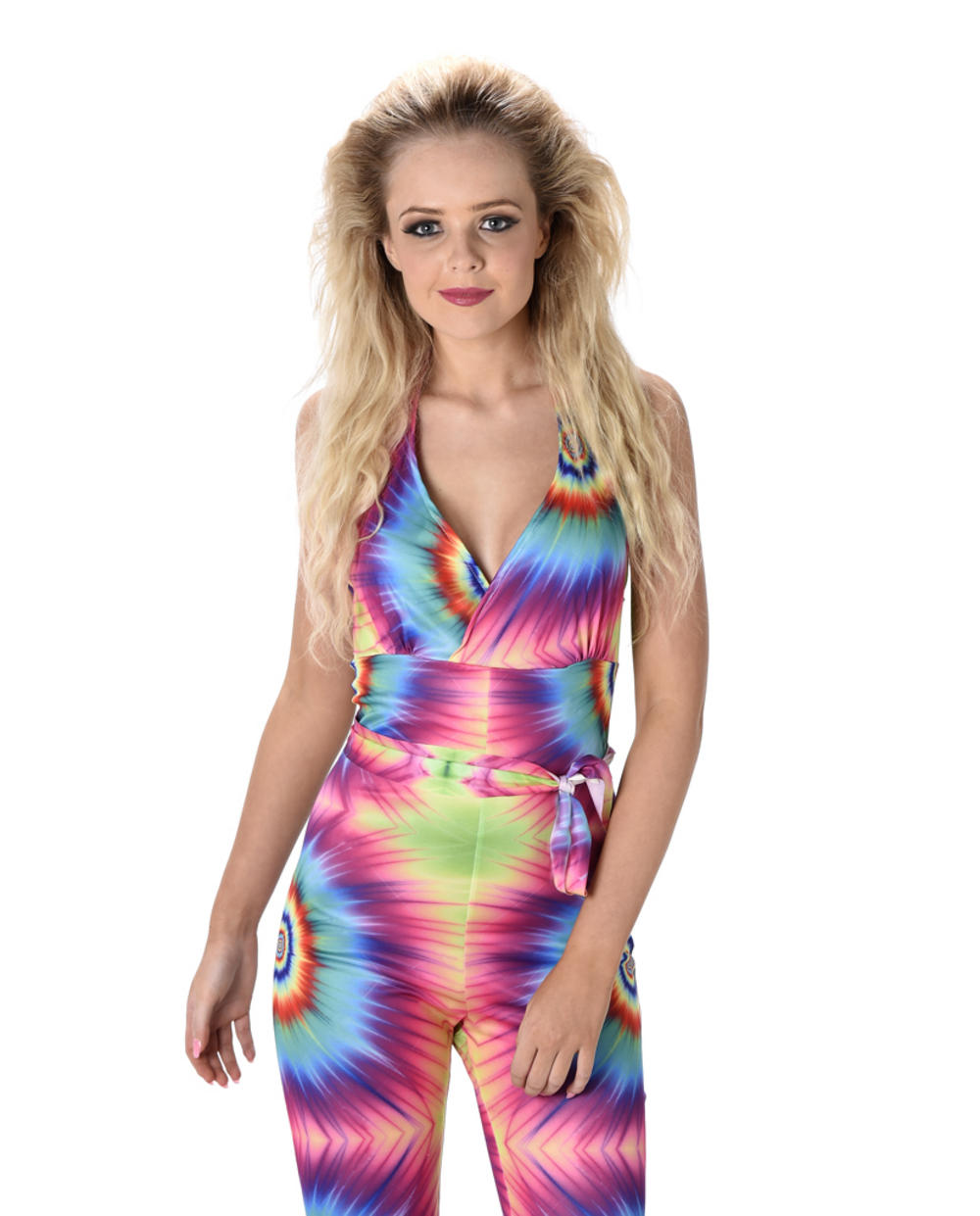 Tie Dye Jumpsuit Ladies Costume