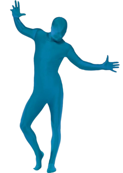 Blue Second Skin Suit