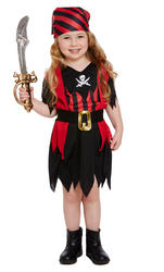 Kids' Toddler Size Pirate Girl Costume
